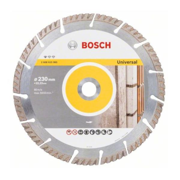 Bosch Gyémánt darabolótárcsa, Standard for Universal kivitel, 230x22,23