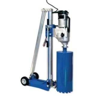 BERNER Gyémántfúró rendszer állvánnyal 300 mm, 220 r/min, 99 Nm, komplett Gyémántfúró