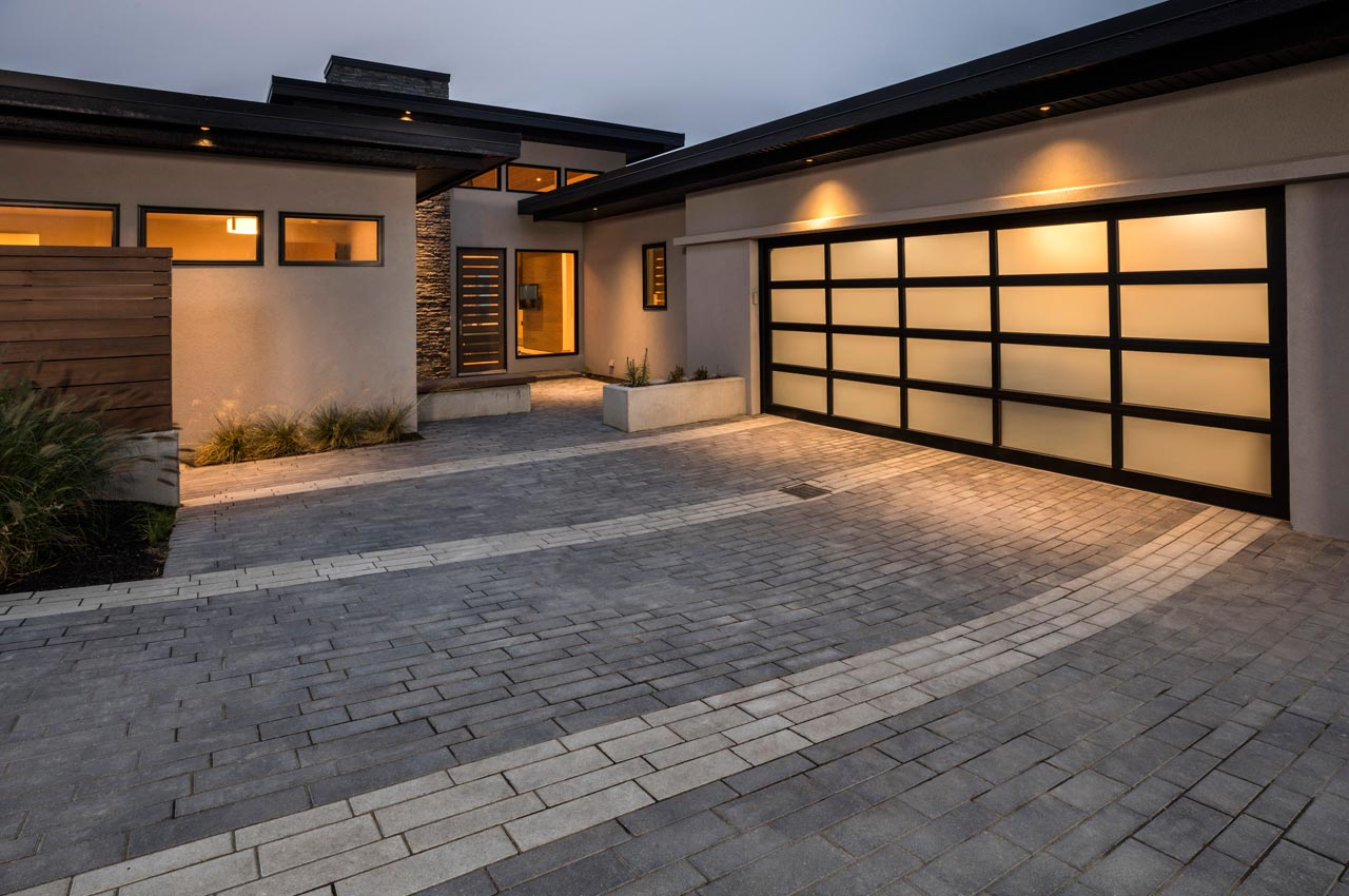 Boardwalk style driveway and patio