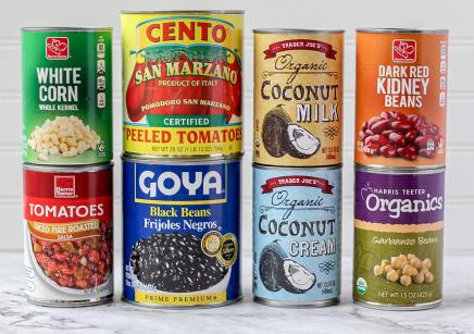 typical canned goods that I keep on hand
