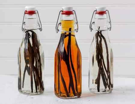 homemade vanilla extract in glass jars