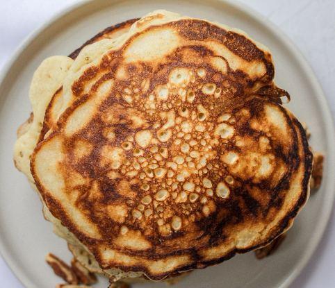 sourdough pancakes with air bubbles