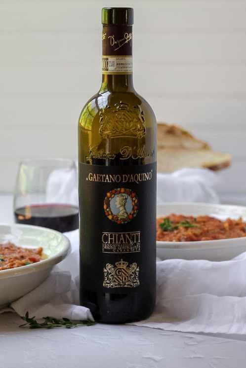Bottle of Chianti wine