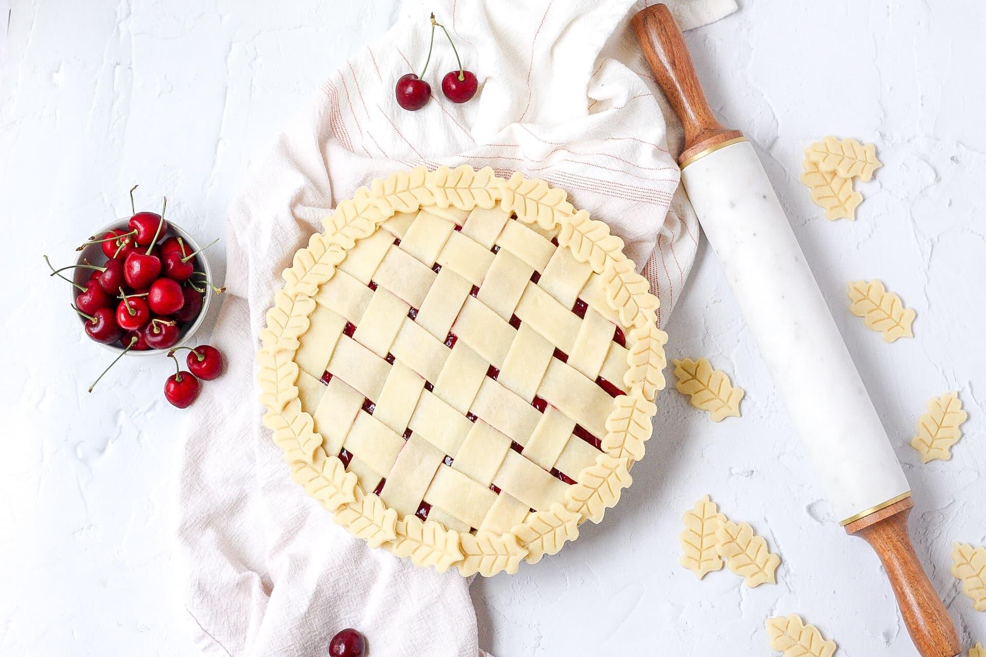 pie crust with lattice design