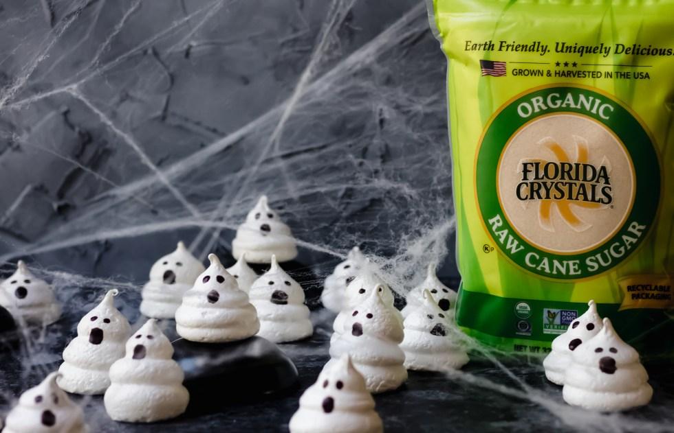 ghost meringue cookies for halloween