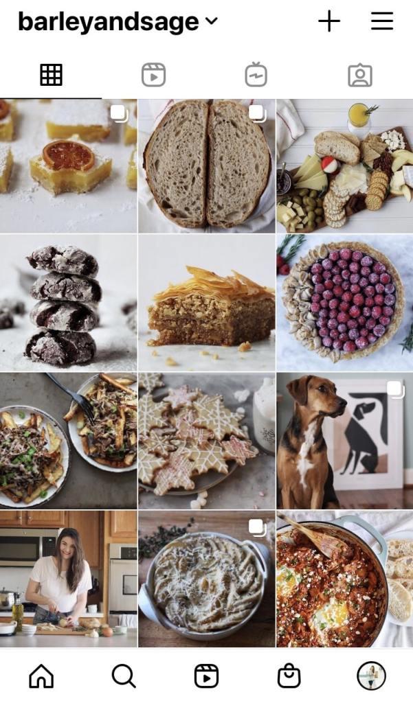 screenshot of instagram feed