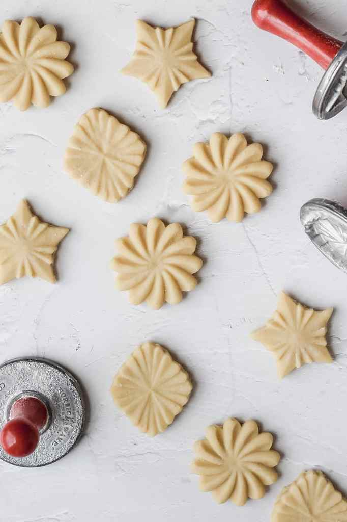 stamp cookies before baking