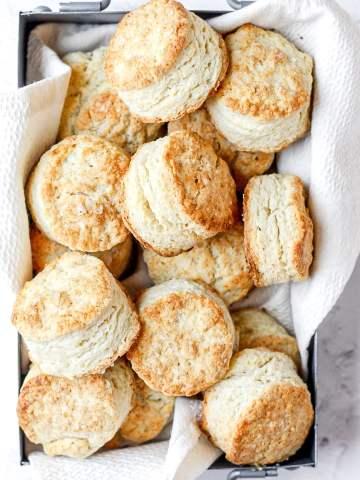 mini sourdough buttermilk biscuits