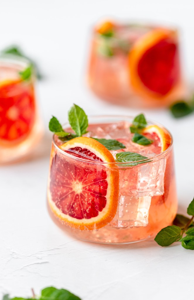 blood orange moscow mule 3 glasses