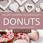 heart shaped sourdough donuts pin