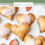 heart hand pies with strawberry filling