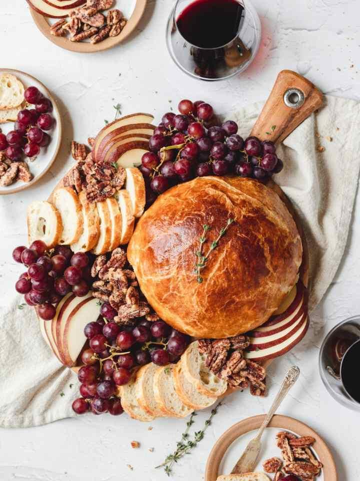 baked brie cheeseboard