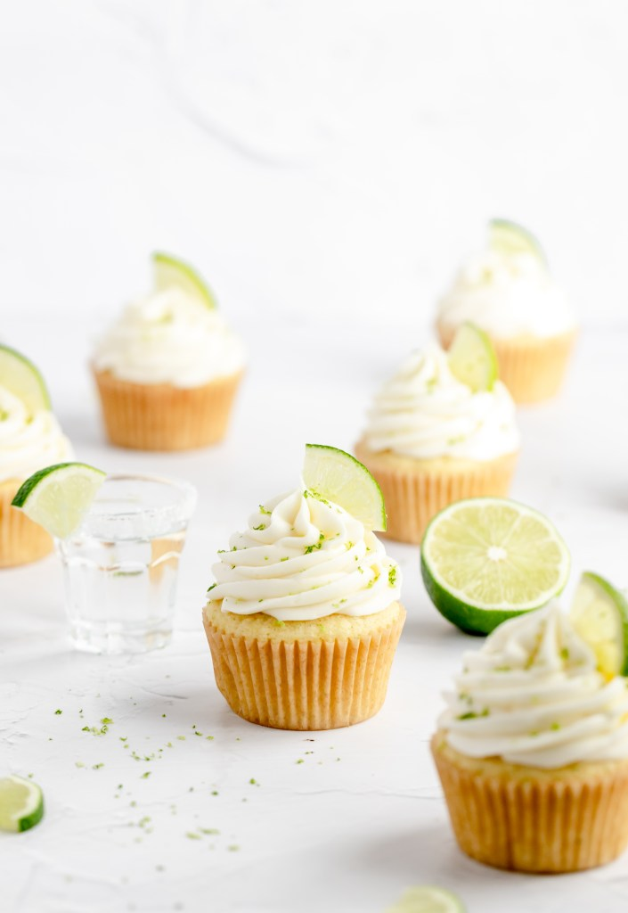 margarita cupcakes with lime zest