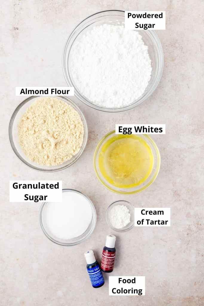macaron ingredient shot