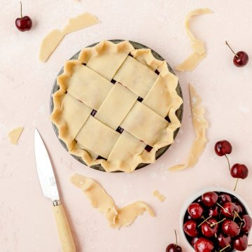close up shot of homemade flaky pie crust
