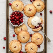 close up of cranberry hand pies