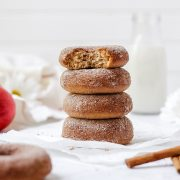 close up of brown butter apple cider donuts