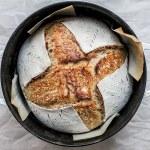 close up shot of homemade sourdough bread
