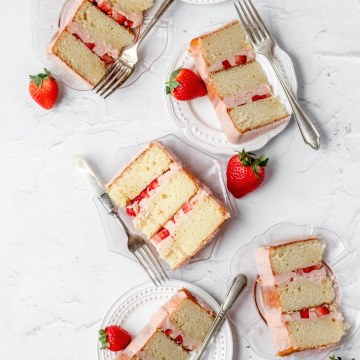 close up shot of cake slices