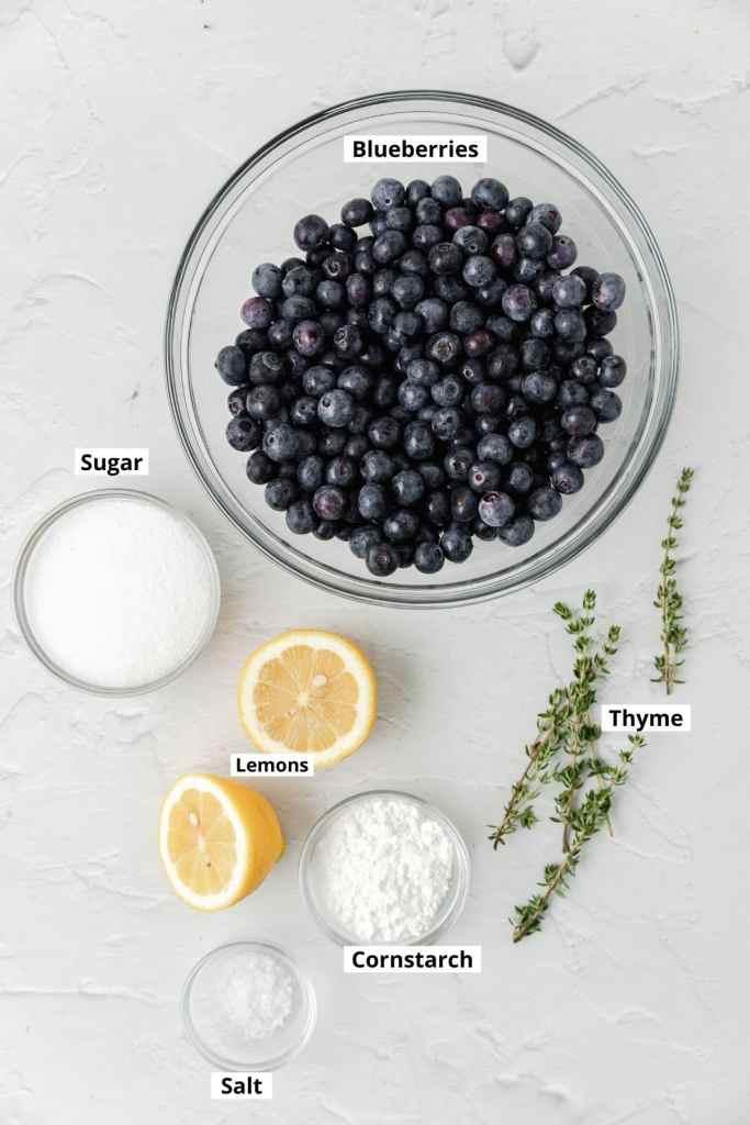 blueberry galette ingredient shot