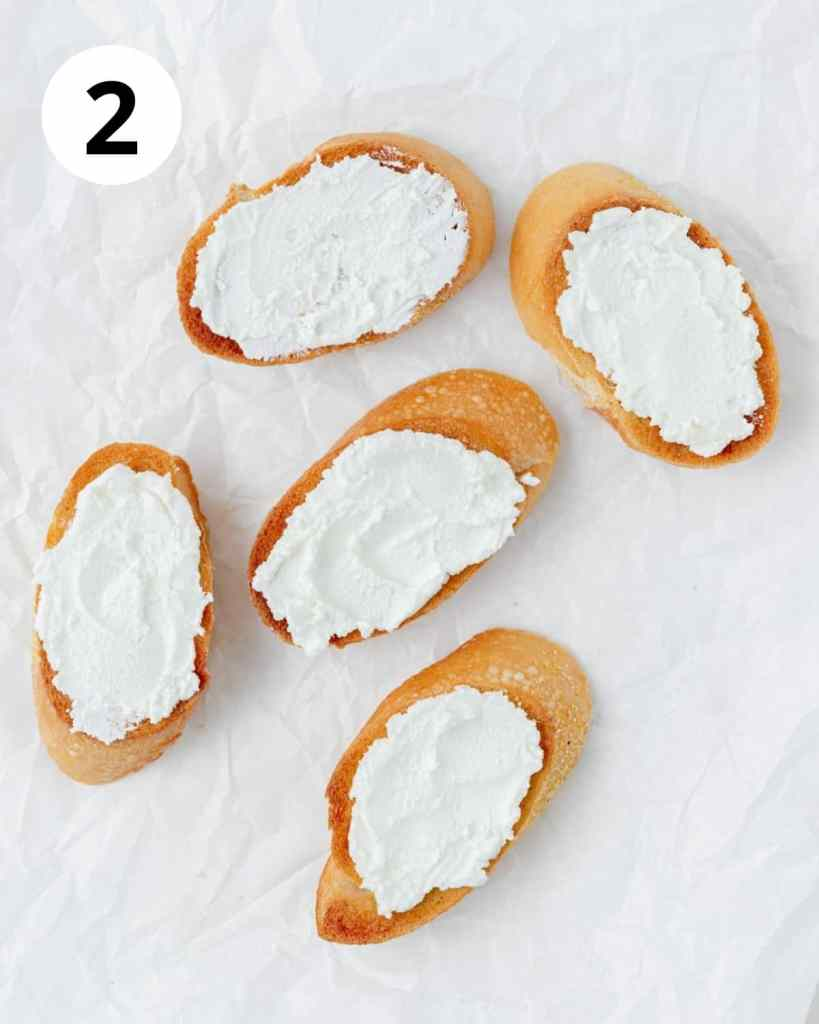 goat cheese on bread