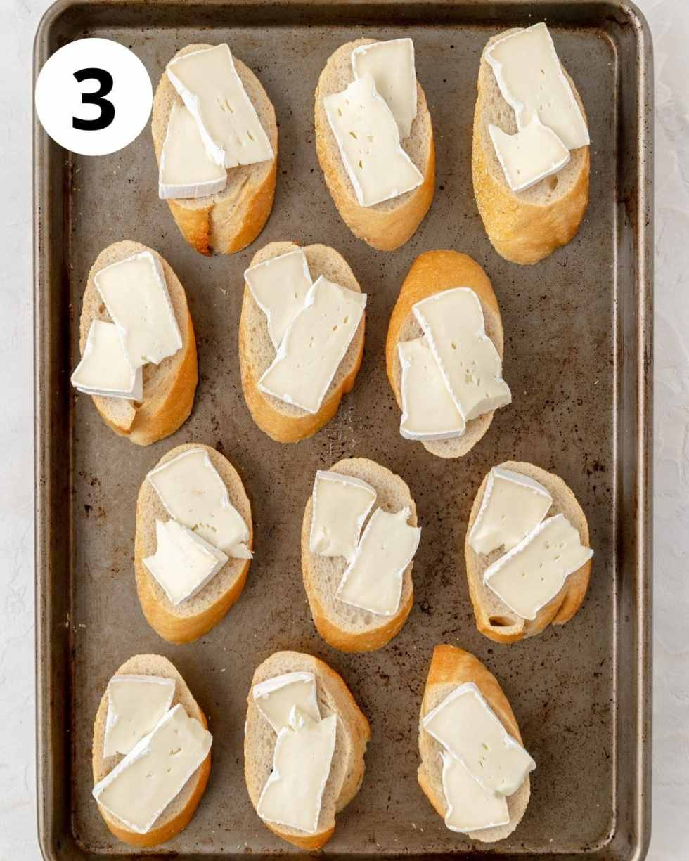 bread topped with brie
