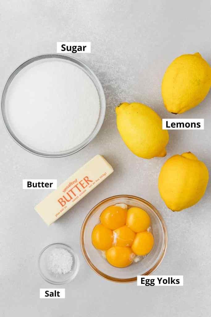 lemon curd labeled ingredients