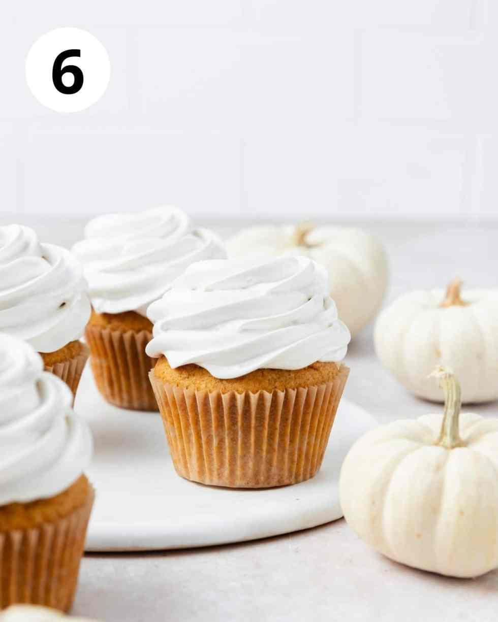 pumpkin cupcakes with meringue