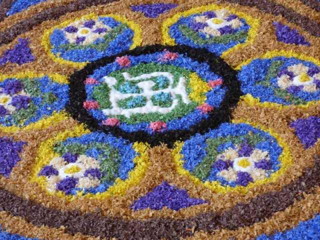 alfombra de flores