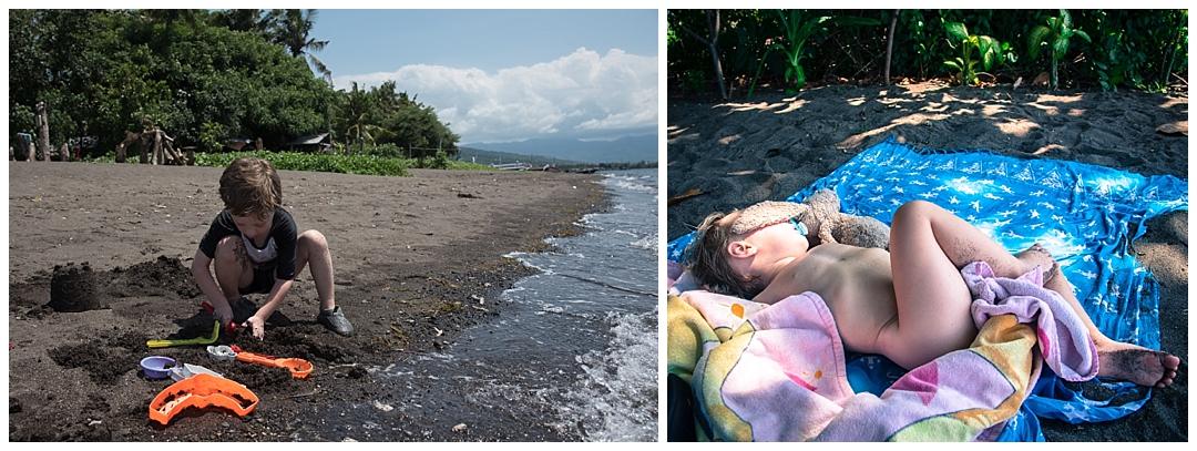 Leg og lur på stranden