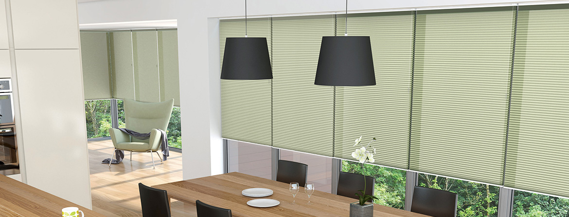 Made to measure pleated blinds from Barnes Blinds in Stoke-on-Trent