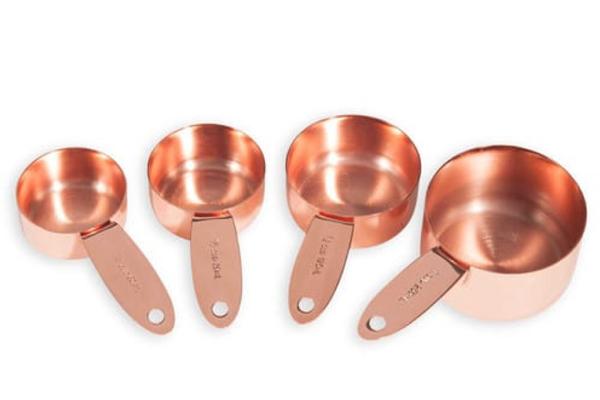 copper measuring spoons