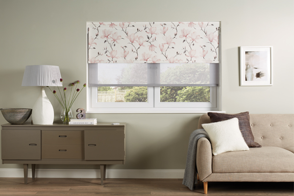 dual layered roller blinds