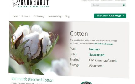 Barnhardt Bleached Cotton Homepage