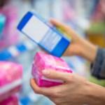 Woman selecting tampon