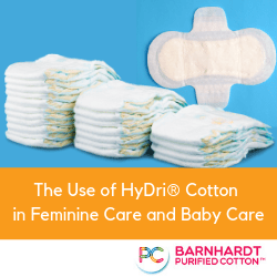 The Use of HyDri® Cotton in Feminine Care and Baby Care