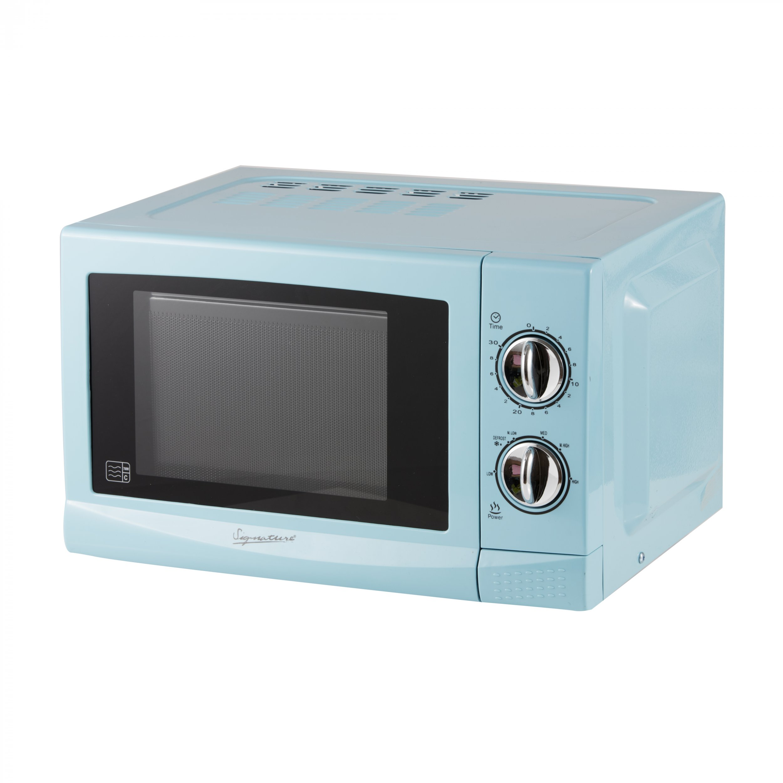signature baby blue manual microwave 17l