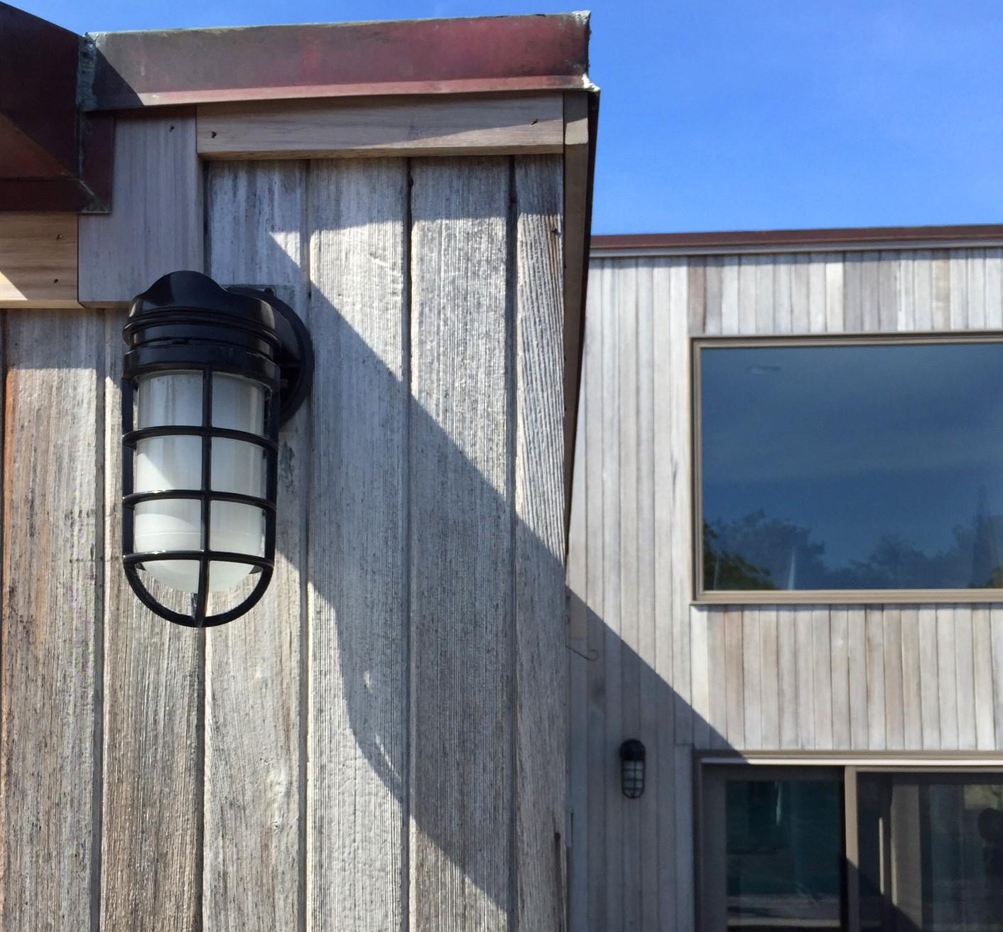 nautical wall sconces lend modern look