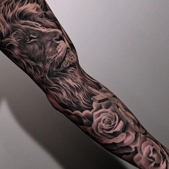And Black Grey Red Roses