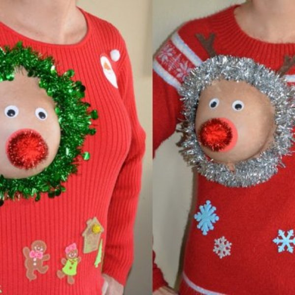 Mammary Christmas From These Reindeer Boobs Barnorama