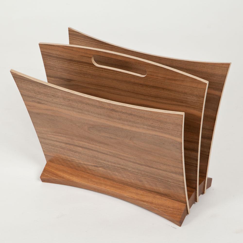 english walnut magazine rack edward barnsley workshop
