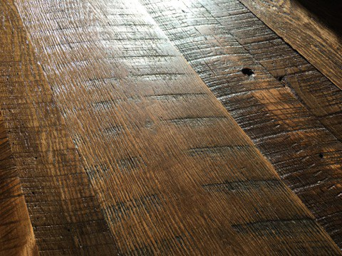 Barnwood Flooring- Square Grouper Lounge