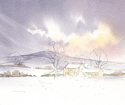 Snow Scene Demonstration In Watercolour