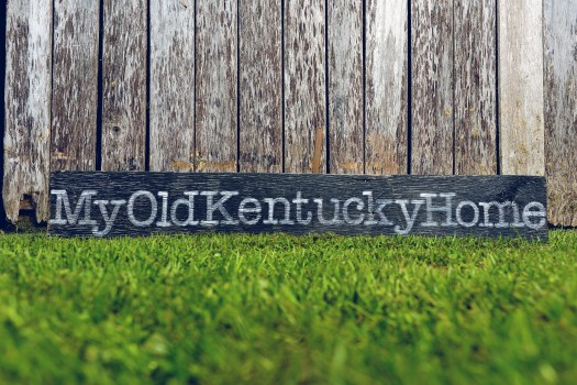 Reclaimed Barnwood Hand Painted Sign My Old Kentucky Home