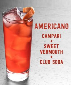 kokteyllerin sınflandırılması-americano cocktail