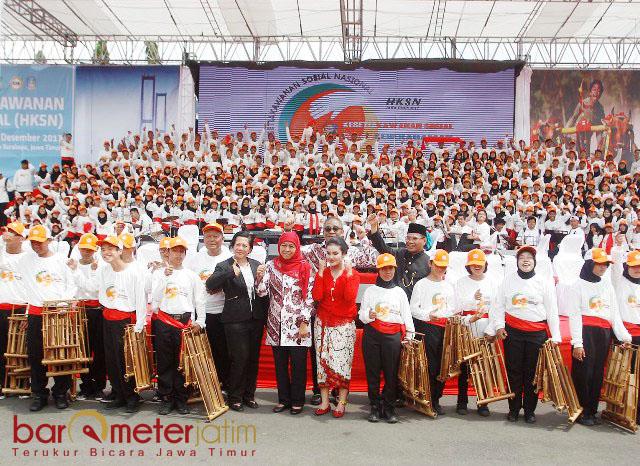 MENUJU INDONESIA SEJAHTERA: Semangat kesetiakawanan sosial, modal dasar membangun bangsa yang kokoh menuju Indonesia sejahtera. | Foto: Barometerjatim.com/MARIJAN AP