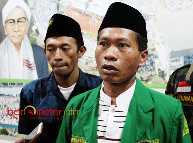 SK PENUNJUKAN HABIS: Rudi Tri Wahid (kanan), SK penunjukan sebagai Ketua Ansor Jatim habis sejak Februari 2018. | Foto: Barometerjatim.com/ABDILLAH HR