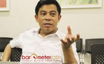 LASKAR MERAH PUTIH: Soepriyatno, Laskar Merah Putih didirikan untuk menguatkan kinerja Gerindra dalam kontestasi Pemilu 2019. | Foto: Barometerjatim.com/ROY HASIBUAN