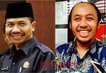 ROTASI KETUA DPRD LAMONGAN: Kaharuddin (kiri) bakal digantian Debby Kurniawan sebagai ketua DPRD Kabupaten Lamongan. | Foto: Barometerjatim.com/IST/HAMIM ANWAR