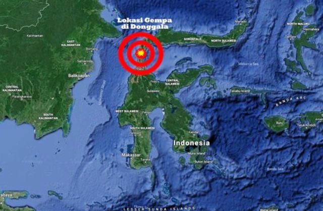 | Peta Gempa Donggala, Foto: Ilustrasi